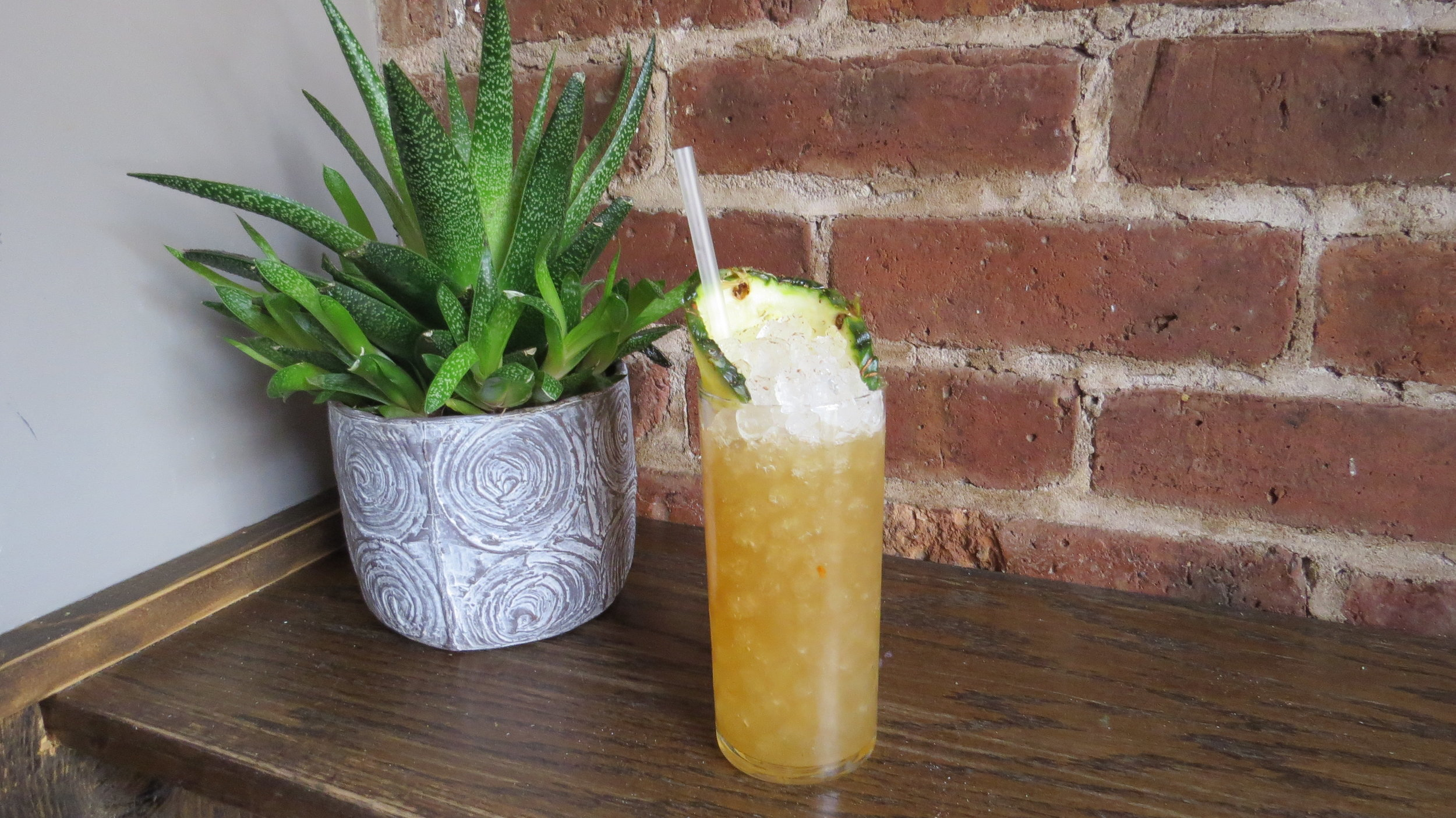 Photo was taken for 2017 book New York Cocktails at Leyenda, Brooklyn. They have since upgraded to bamboo straws!