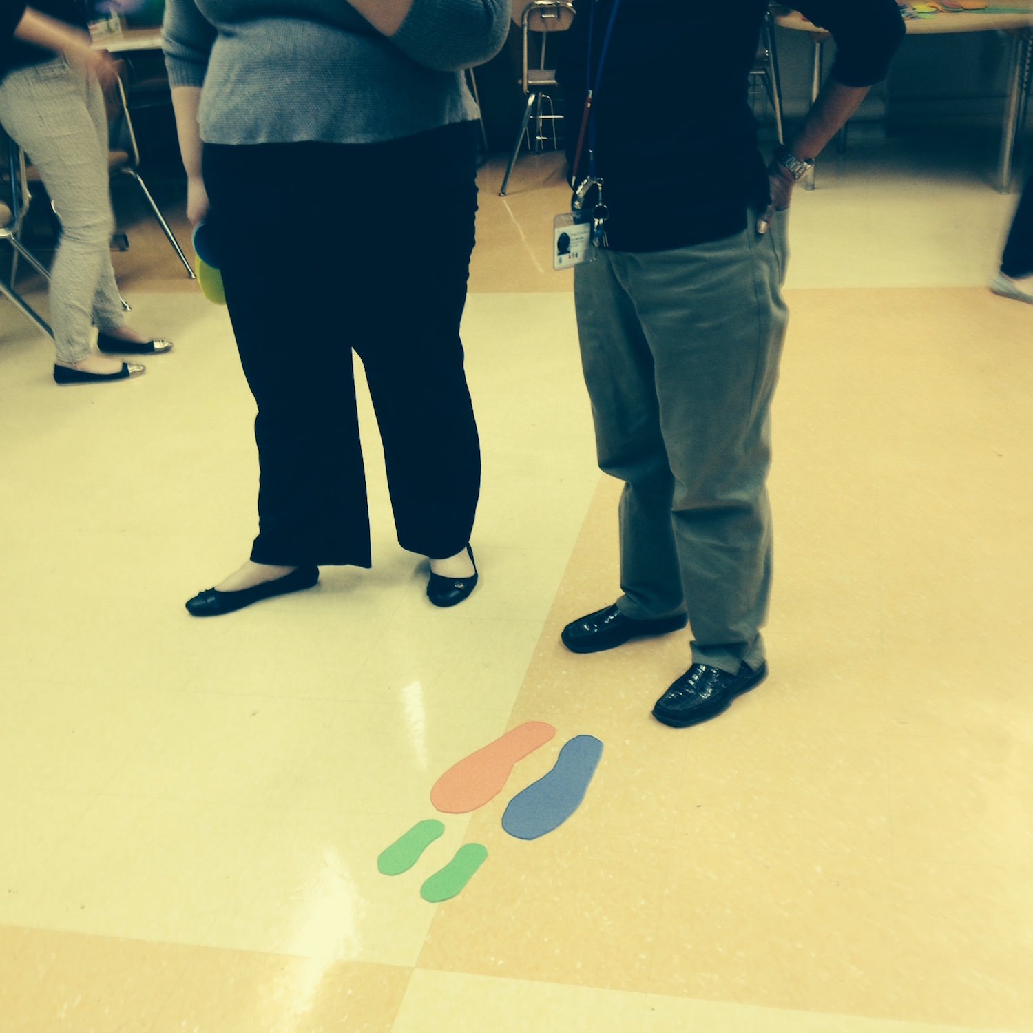 teacher circle foot steps activity