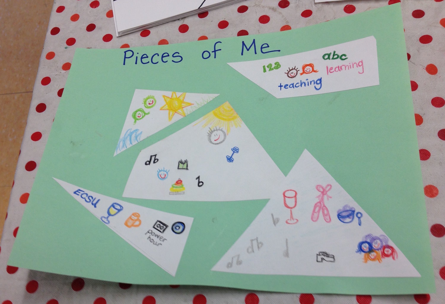 teacher circle pieces of me activity