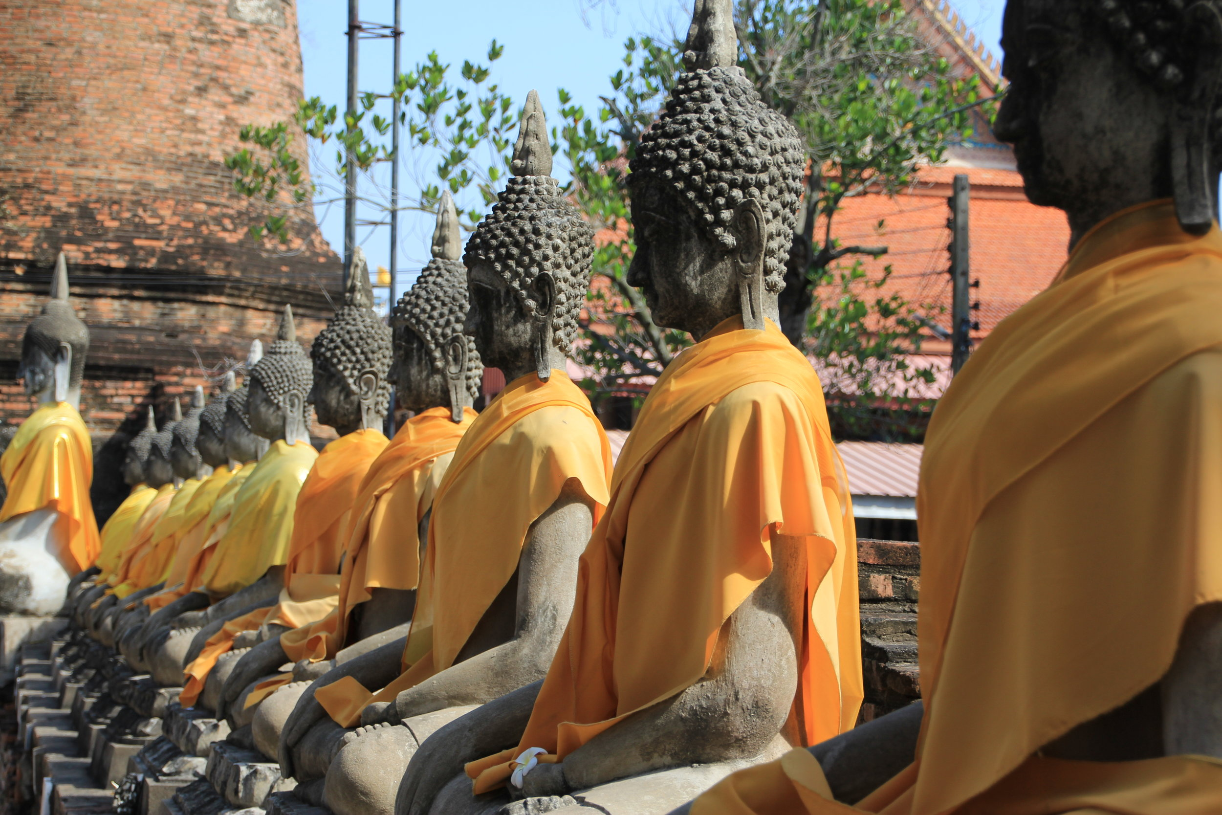 Buddha statues in a Thailand temple