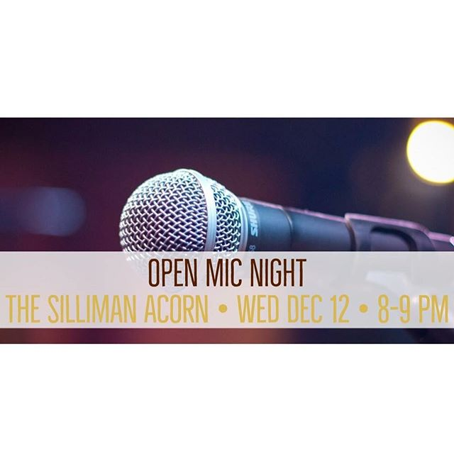 Please join us at our first open mic night this Wednesday at 8! Listen to some great performers or sign up to perform yourself in the link in our bio!
