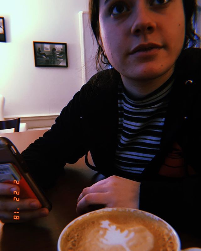 a latte and a friend = the solution to a rainy day