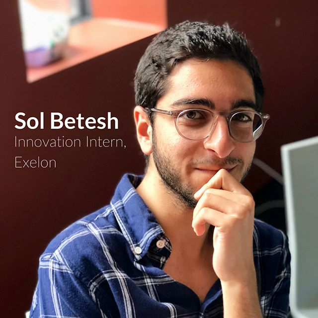 """""""Try to find an internship where you can do meaningful work."""" We sat down with Sol Betesh to talk about his experience as an intern at Exelon, an open workplace where ideas can always be shared. . . . Link in bio. #makegoodcompany #exelon #withcocreate #loveyourjob #internship"""