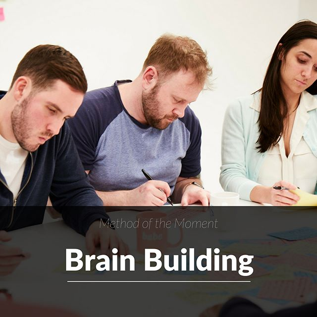 Use #brainbuilding to build a bunch of ideas FAST. It's also a fun and effective activity for your team. Grab some paper and get everyone writing! After a few minutes, pass your writing on and go heads down again. It's the building on top of one another's ideas that trigger great collaborative concepts. #teambuilding #contentcreation #brainstorming #ideating #withcocreate #makegoodcompany