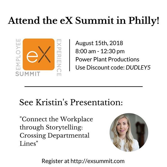 See Kristin Dudley @kristindud speak at the eX Summit on August 15th in #Philadelphia! Register at link in bio and use Discount code: DUDLEY5. . . #makegoodcompany #employee #experience #philly #summer #ex #exsummit #hr #disrupthr #philadelphia #talent #eb