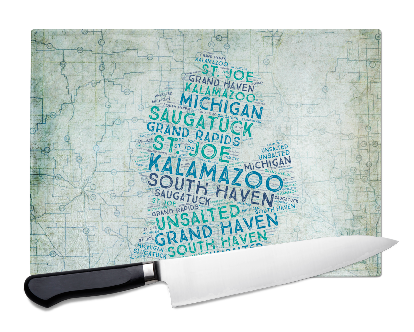 Cutting Boards - 2 Sizes Available in Tempered Glass8x11