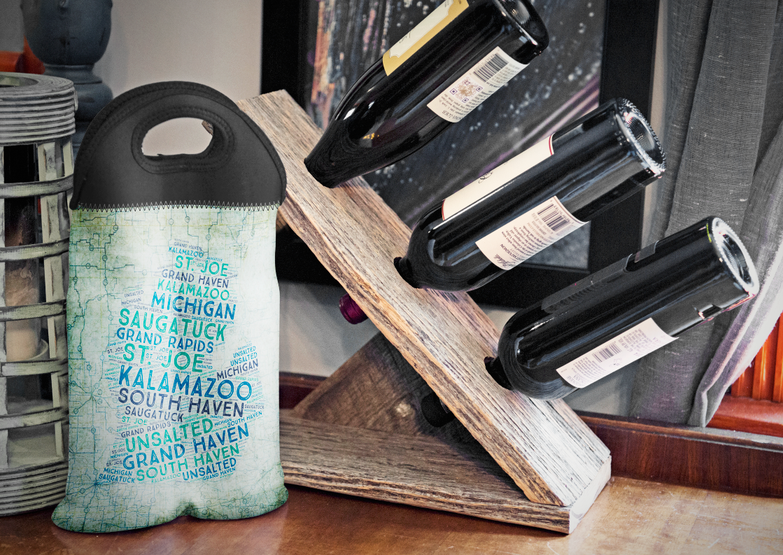 BYOB Wine Bags - 1 & 2 Bottle Neoprene Insulated Wine Carrier