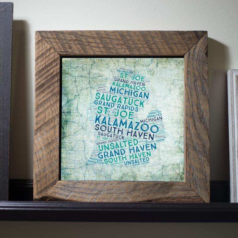 Framed Art Print - 5 Sizes Available8x8