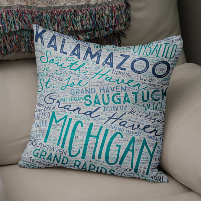 Throw Pillows - 4 Sizes Available with Zipper or Sewn Knife Edge Closure.16