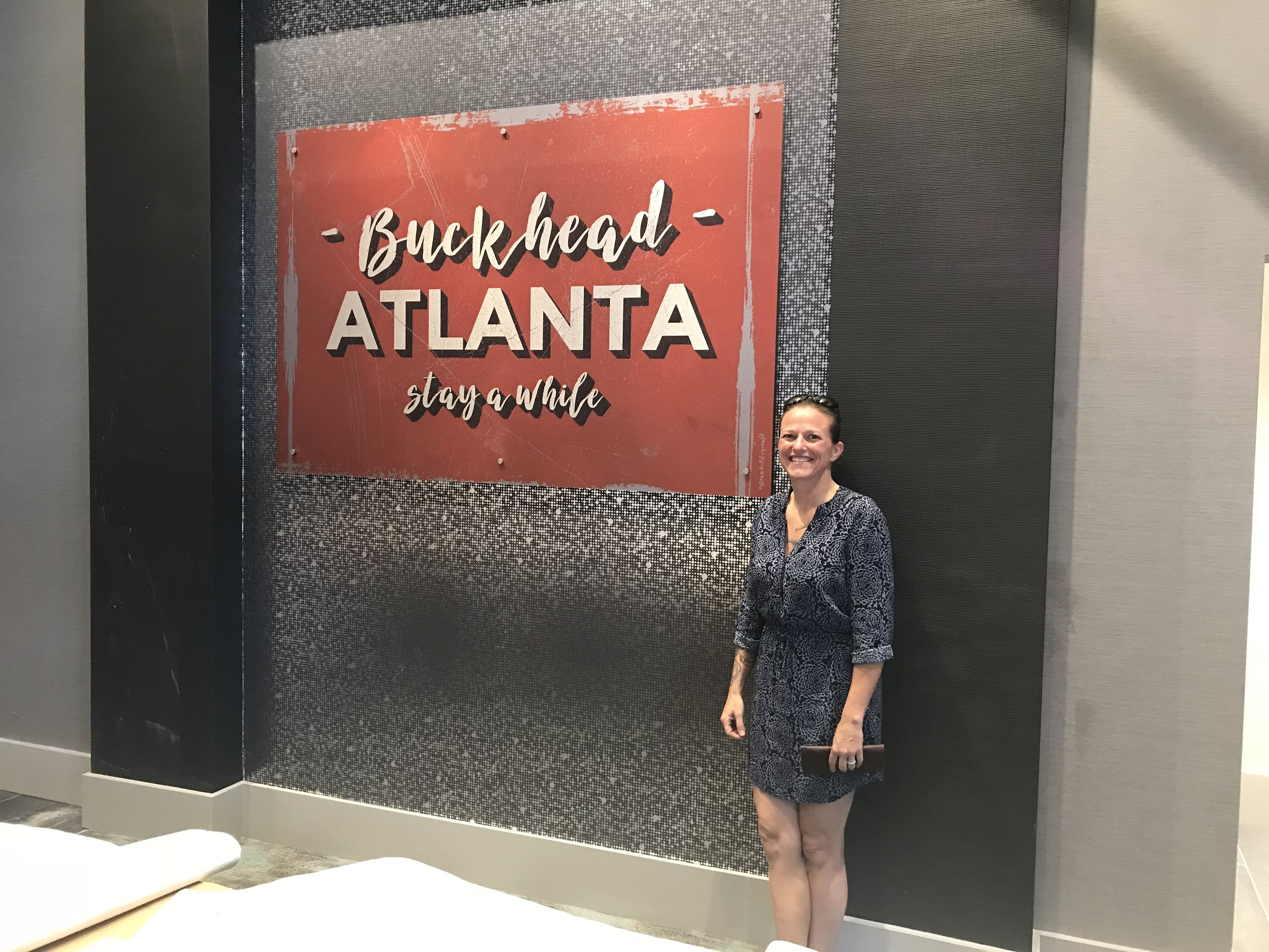Hampton Inn - Buckhead, Atlanta - Excited to announce that two pieces of my artwork were chosen to adorn the walls of the new Hampton Inn - Buckhead. This piece here is 4'x7' and lives behind the reception desk.
