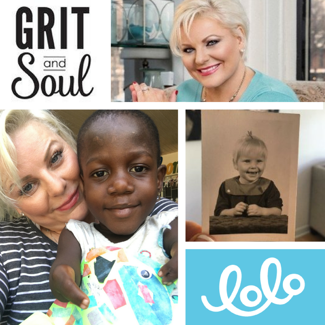 A collage of images featured in the Grit and Soul article, Leslie Pitt: A Childhood Trauma Leads to Advocating for Children with Differing Abilities