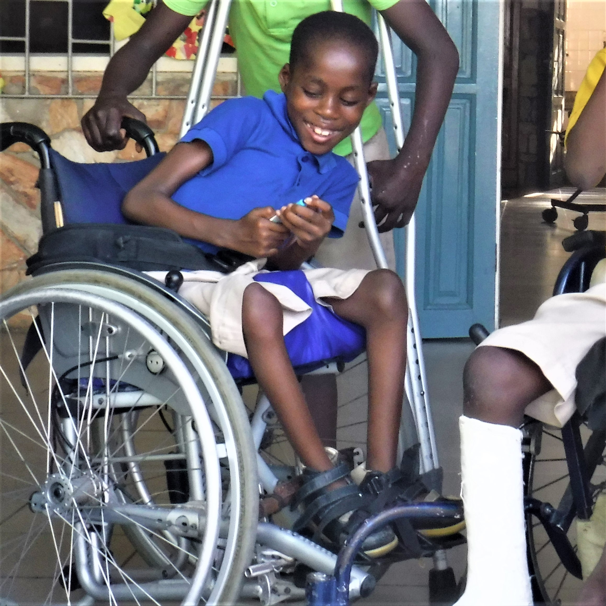 Grant a Wheelchair - $100    Provide a wheelchair to help improve a child's independent mobility.
