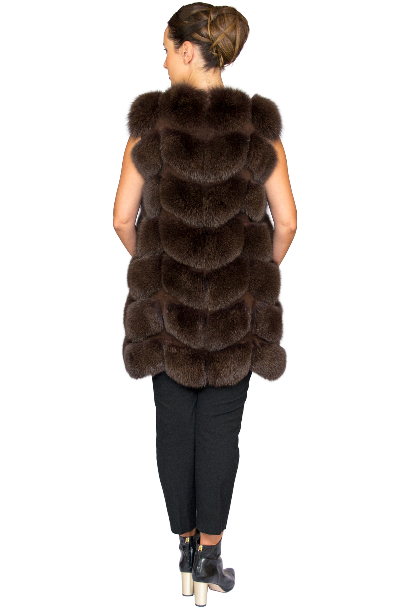 Noura Fox Fur Gilet Midi - Back.jpg