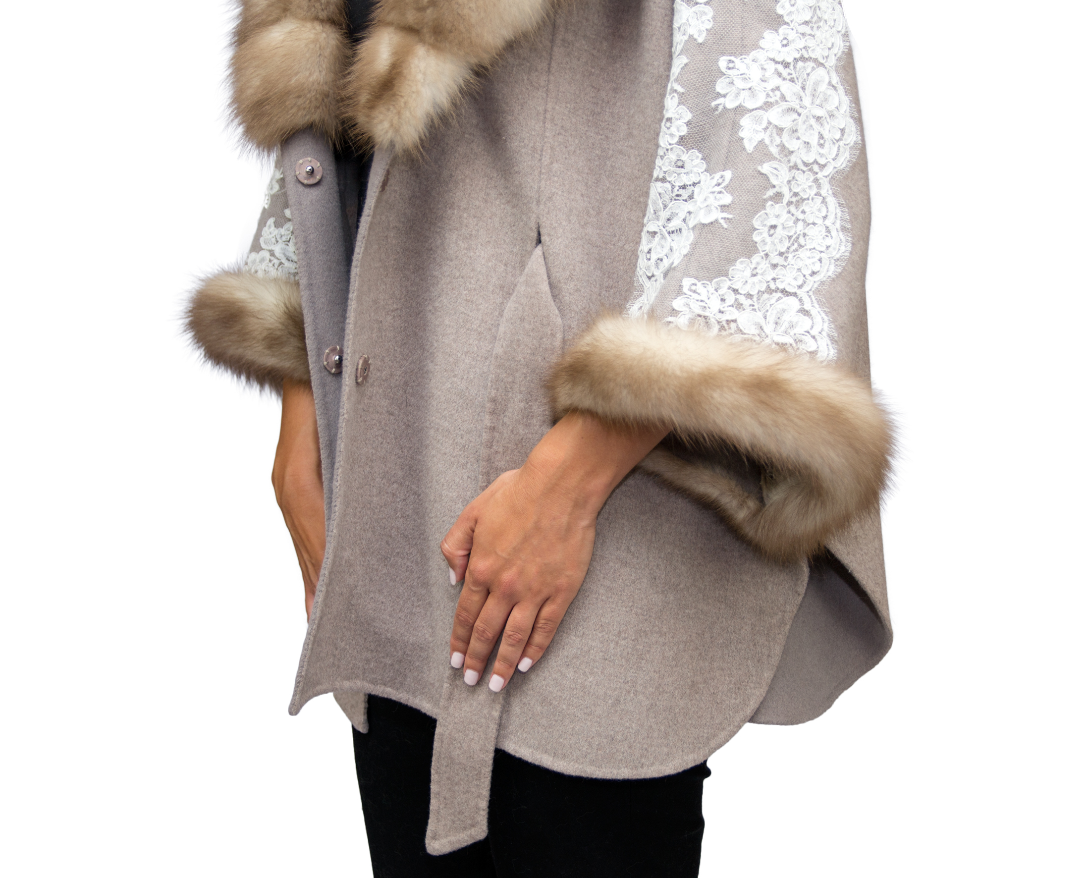 Rania Mink and Lace Poncho- Close Up.jpg