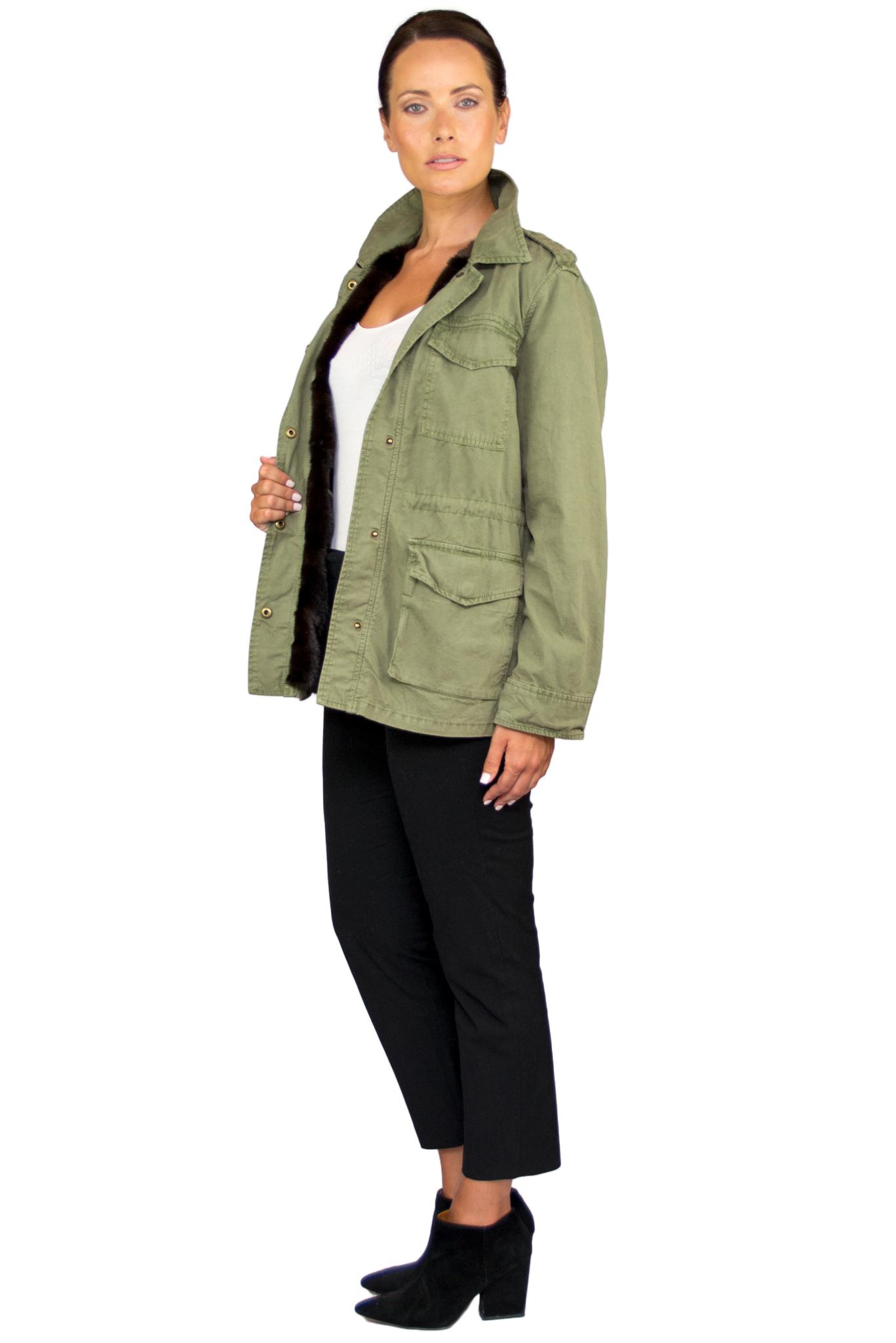 Laila Army Jacket w Mink Interior- Side.jpg