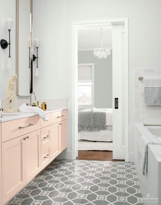 Cabinets in Head Over Heels AF-250 | Walls in Metropolitan AF-690 | Door + trim in Decorator's White OC-149