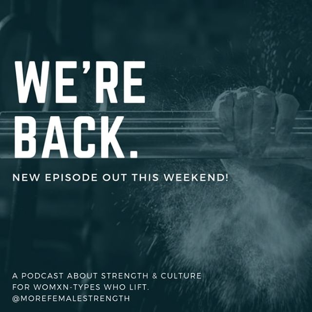 Set your podcast subscription to automatically download because we're headed back to your earbuds! Our latest podcast is in editing and should be out by this weekend!⠀⠀⠀⠀⠀⠀⠀⠀⠀ *⠀⠀⠀⠀⠀⠀⠀⠀⠀ #morefemalestrength #womxntypeswholift #getloudandtakeupspace #podcastingishard #weareback