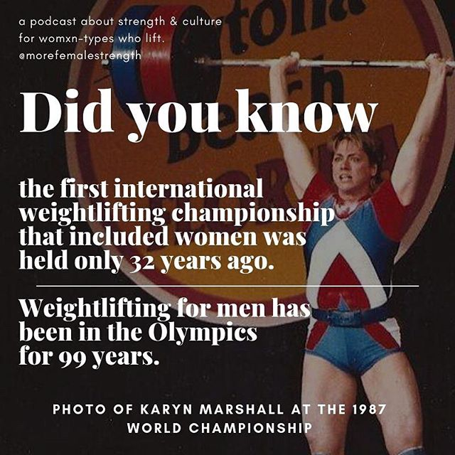 "Men's weightlifting has been included in the Olympics since 1920. The first international women's weightlifting competition was held in 1987 in Daytona, Florida. It took another 13 years for women's weightlifting to be included as an Olympic sport, 80 years after men's weightlifting was re-introduced to the Olympic games. • In our next episode, we chat with @jordan_barbellmedicine about his recent article on gender and fairness in sport. We discuss some of the historical barriers to women being included in sport, and what this means about the available data when we talk about ""fairness."" (Hint: There's a lot of *nuance*!) #transliftersbelonghere #sharetheplatform #morefemalestrength #barbellmedicine"