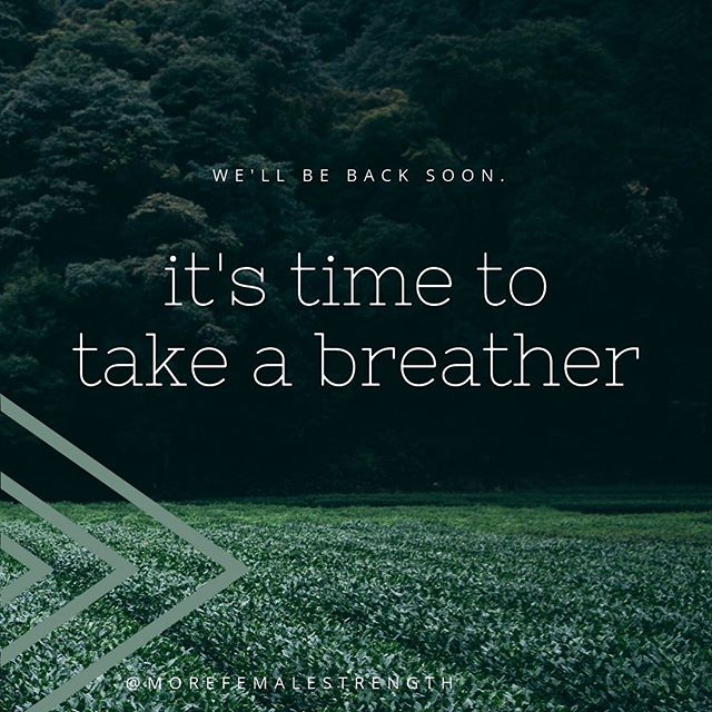 We've decided to take a breather from the podcast for the rest of this year as both of us enter into new adventures. We hope to return in 2020 with fresh topics, new stories and tons of awesome episodes. Thanks for sticking with us this long and we'll see you soon! #weknowwhentotakeabreather #breaksareok #morefemalestrength #getloudandtakeupspace