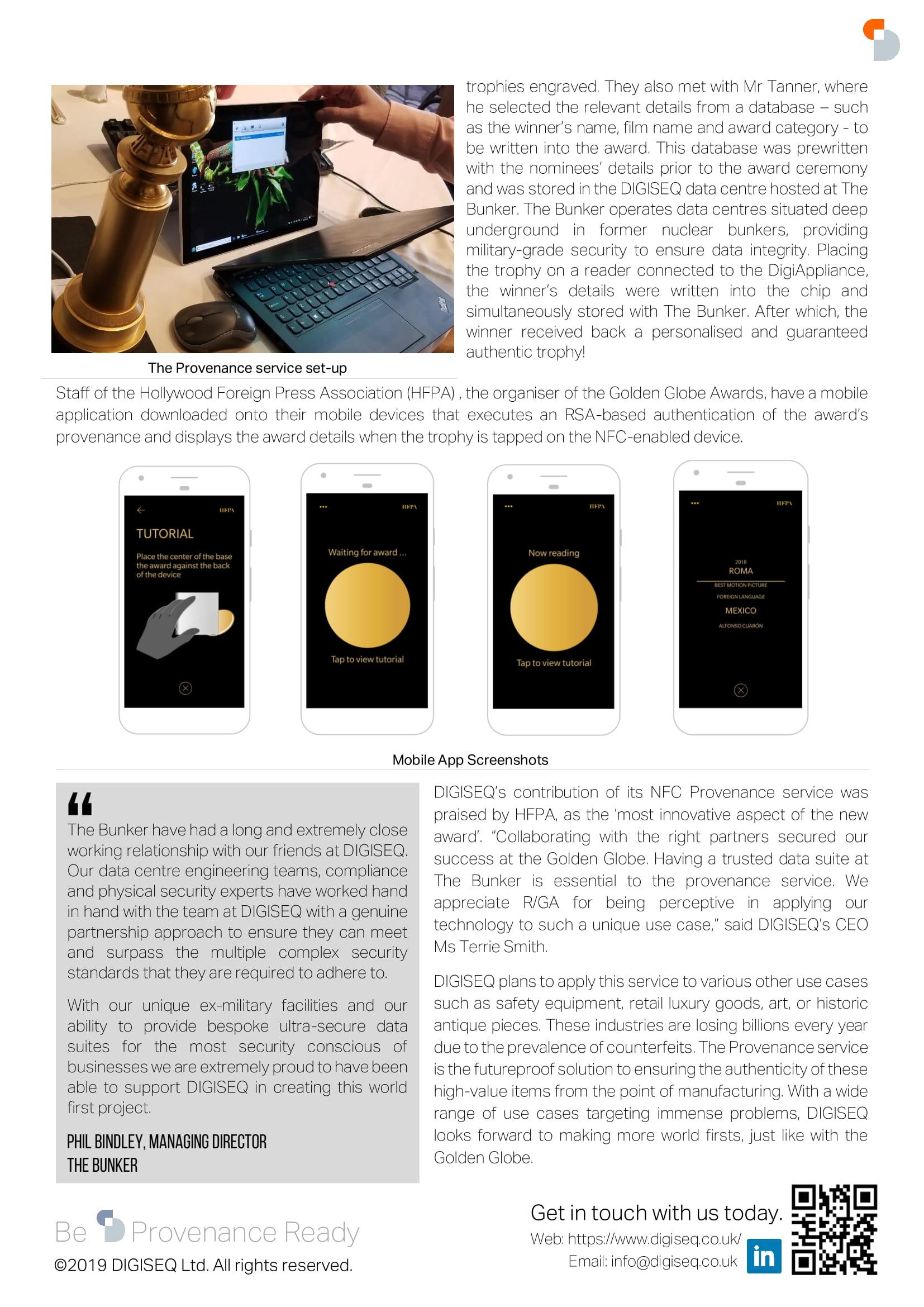 digiseq golden globe case study 2