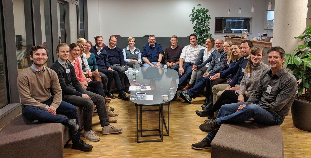 Teilnehmer des Arbeitskreises Organisatorische Netzwerkforschung 2017 in Heidelberg ©  Lehrstuhl für Wirtschafts- und Sozialgeographie, Universität Heidelberg