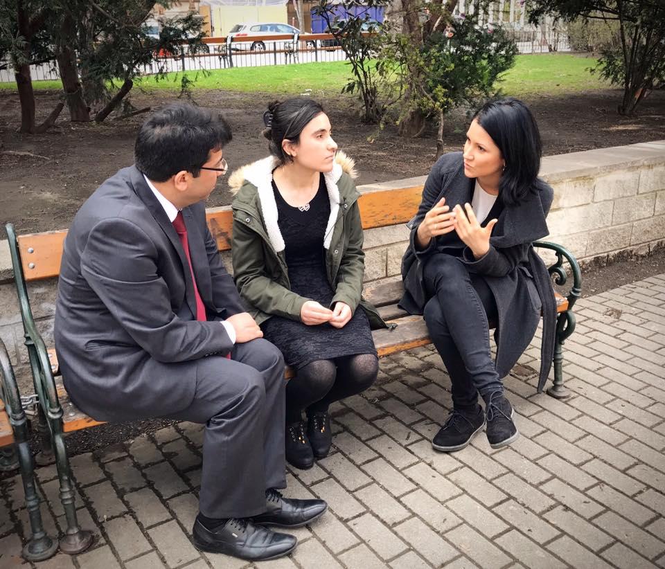 Interview mit Lamya Haji Baschar für die PULS 4 News
