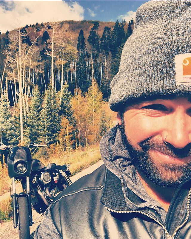 Fall is here. The air is crisp. My favorite riding season. Stoked get to wear my leather jacket and camp out among colorful aspen trees and falling leaves. Who wants to meet up and carve some Colorado mountain roads?