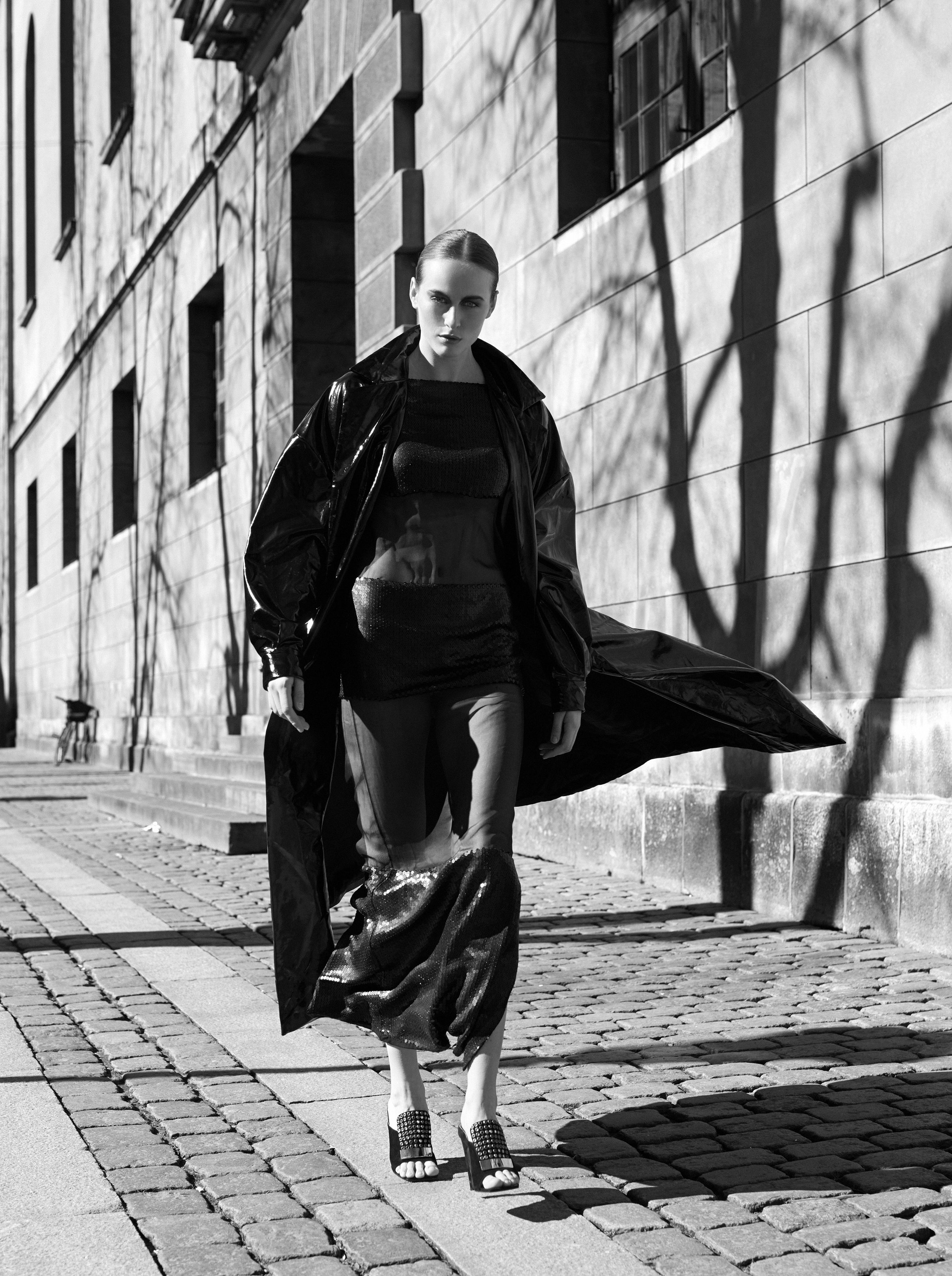 dress  Guy Laroche  coat  Gin Salemò  shoes  Sergio Rossi