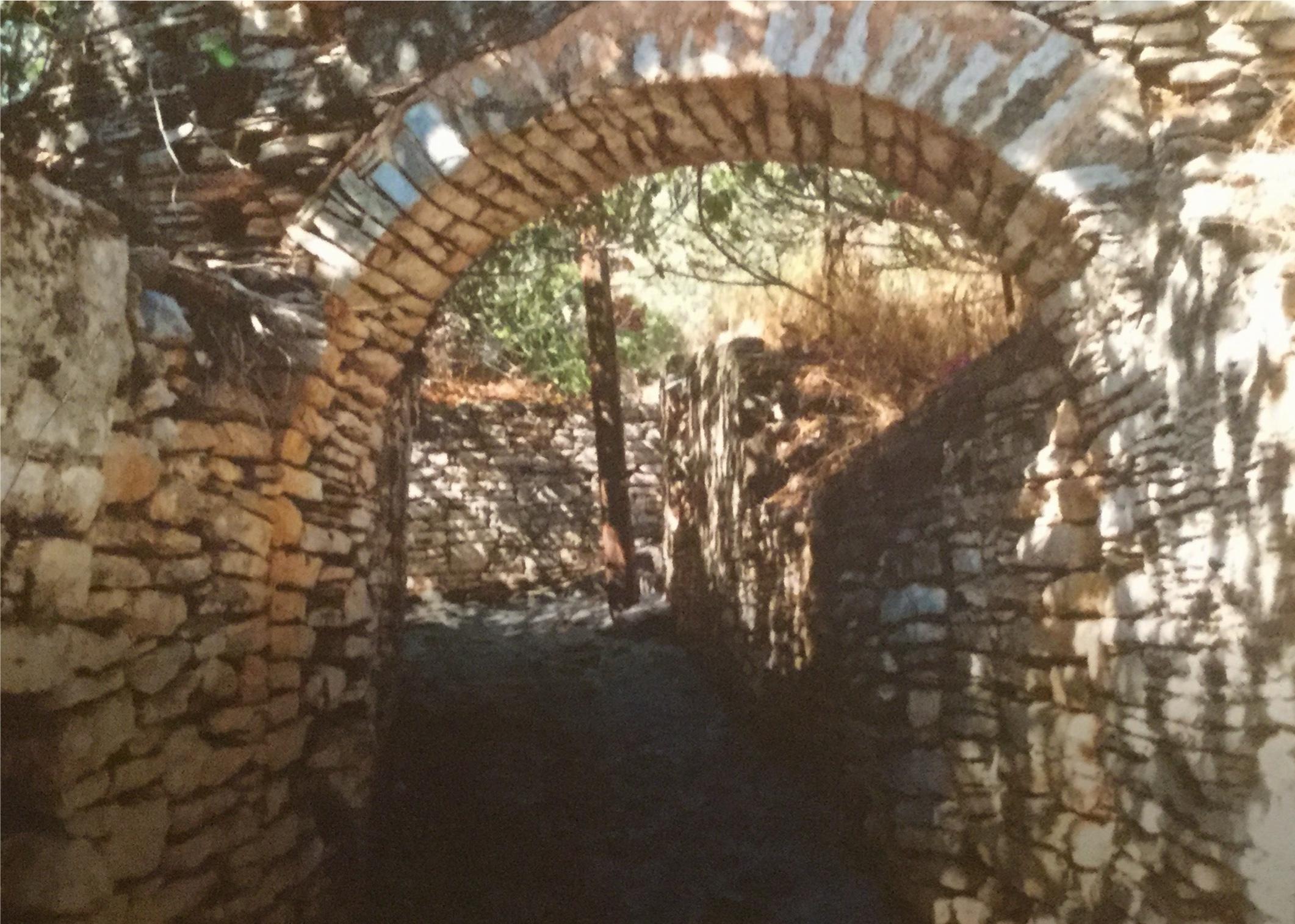 Thr ruins in the building in Pansaers.
