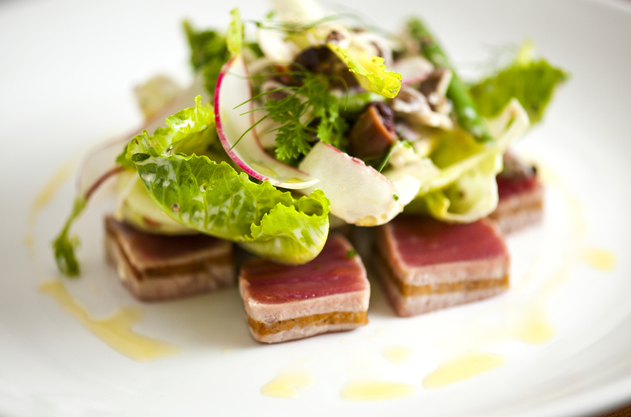 Copy of seared tuna and salad