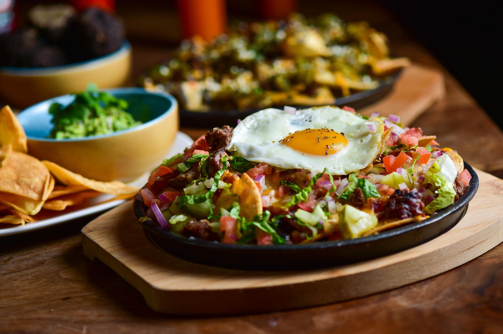 nachos with fried egg