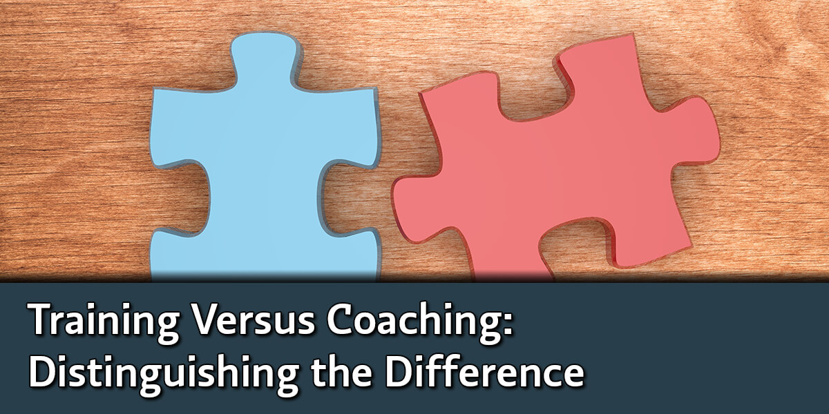 Training Versus Coaching: Distinguishing the Difference