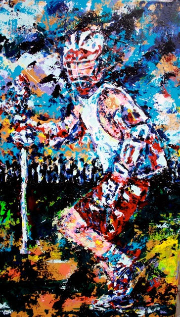 Club Lacrosse  original acrylic on canvas