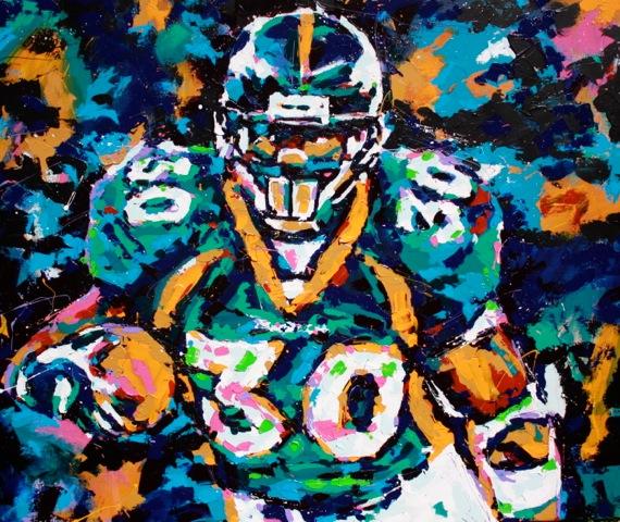 TD, Superbowl MVP  original acrylic on canvas