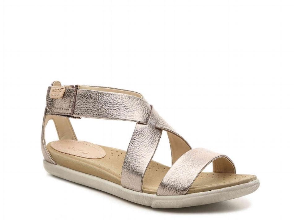 Ecco Damara Sandal - Gold Metallic (PC: Dsw,com)