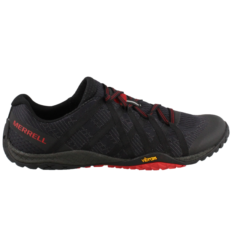 Merrell Men's Trail Glove 4 E-Mesh Shoe - Black (PC: Peltzshoes.com)