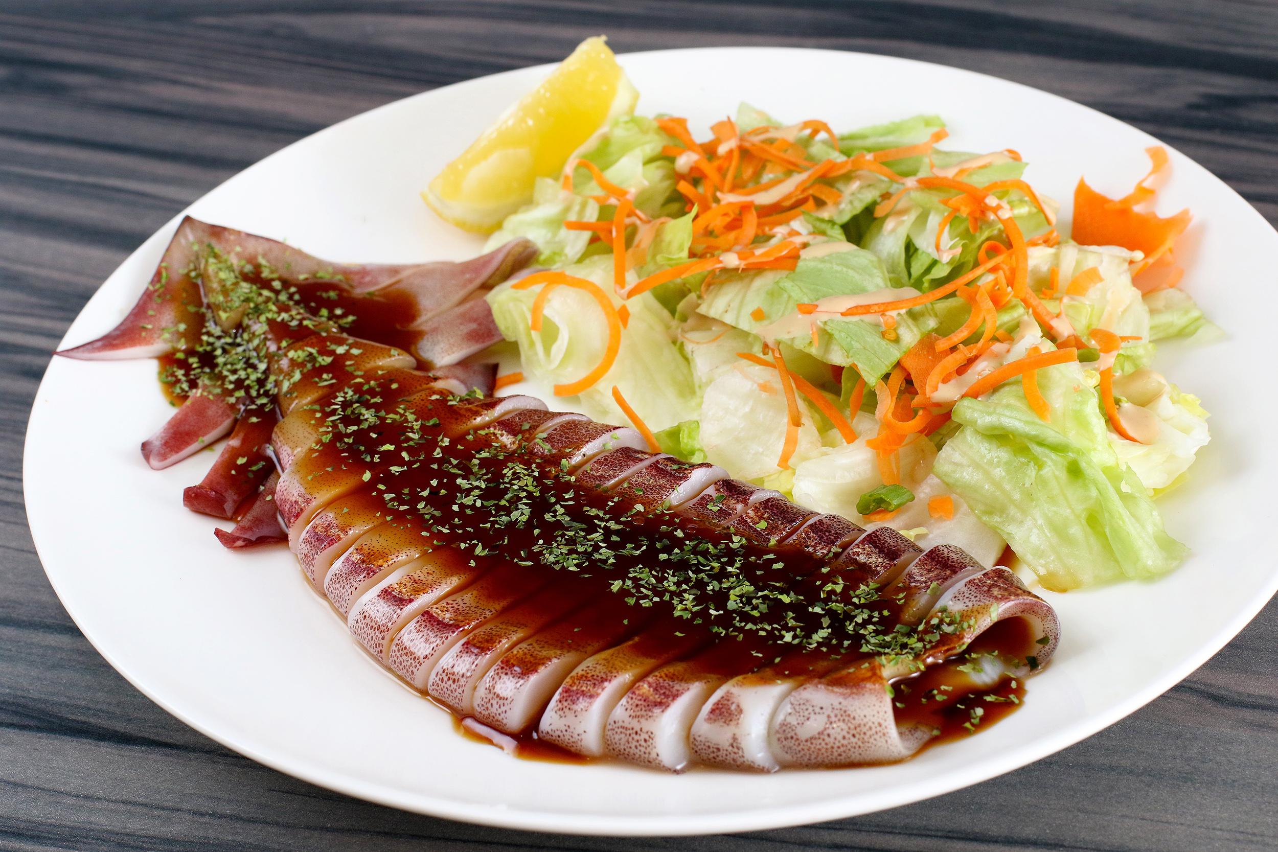 Squid Teriyaki Kui Shin Bo Japanese Restaurant San Francisco.jpg
