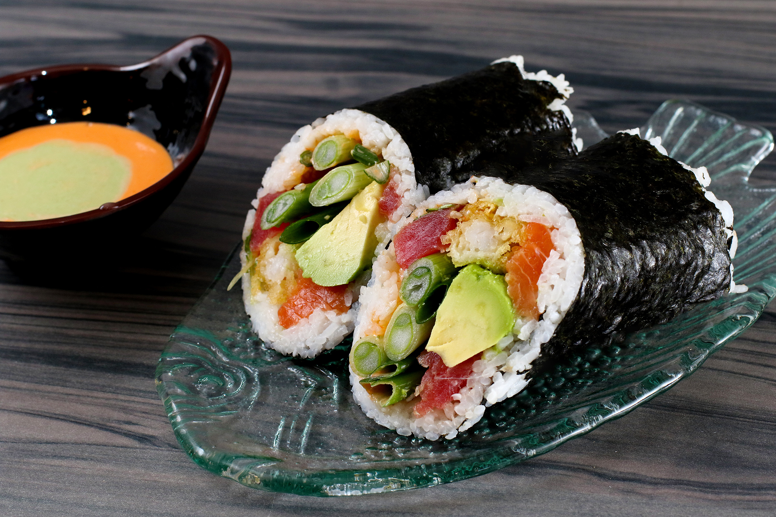 Sushi Burrito with Tuna and Avocado