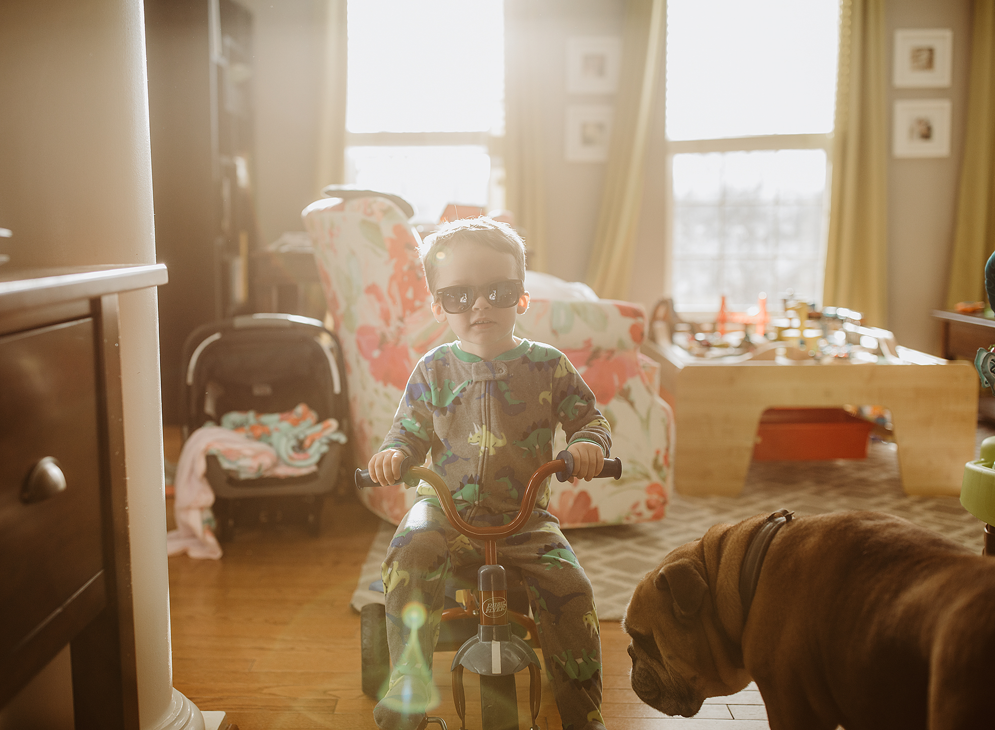 Messes everywhere, but I will always cherish this...my crazy little guy racing his trike through our house.