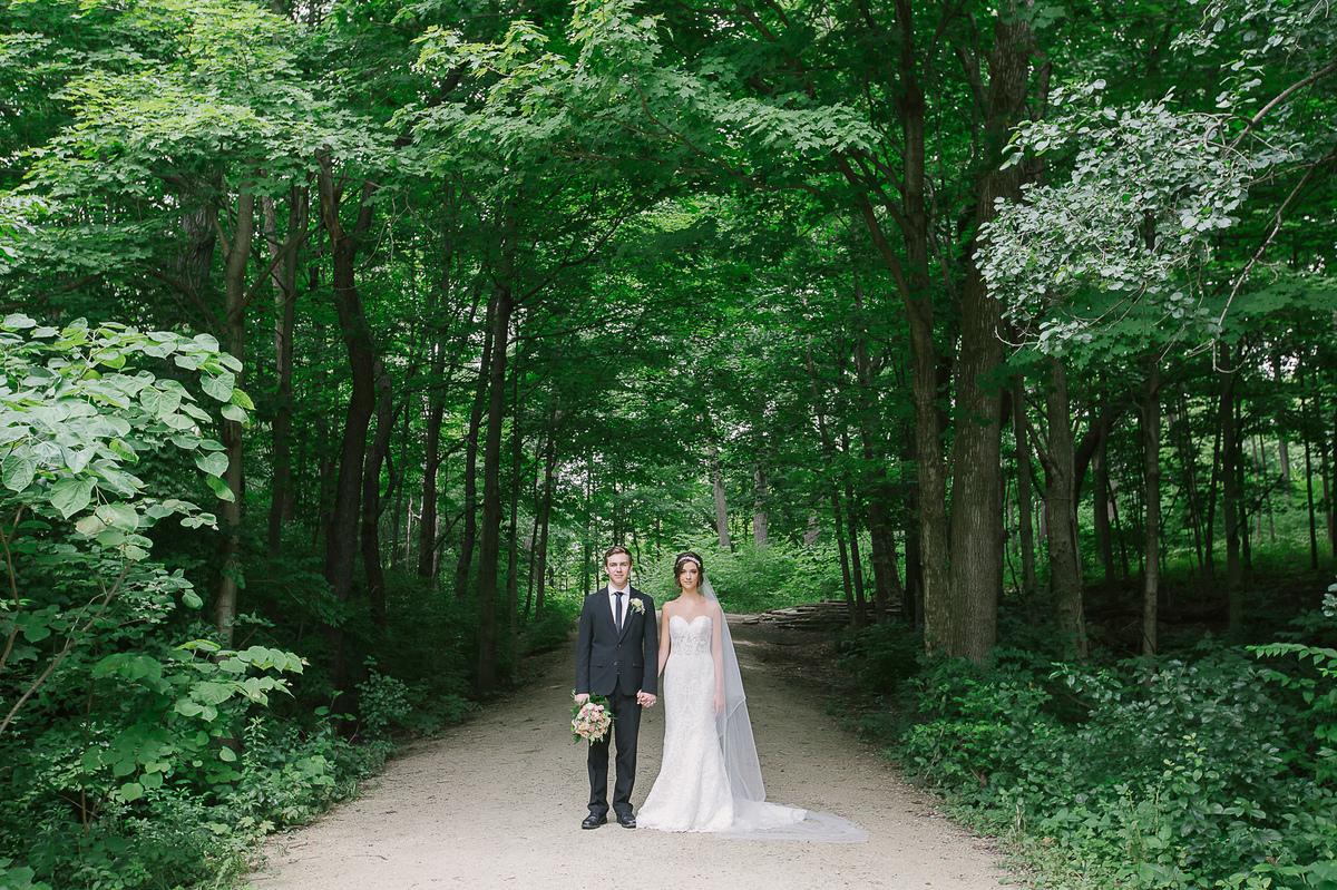 Organic Summer Wedding Inspiration  Waterfall Glen Forest Preserve