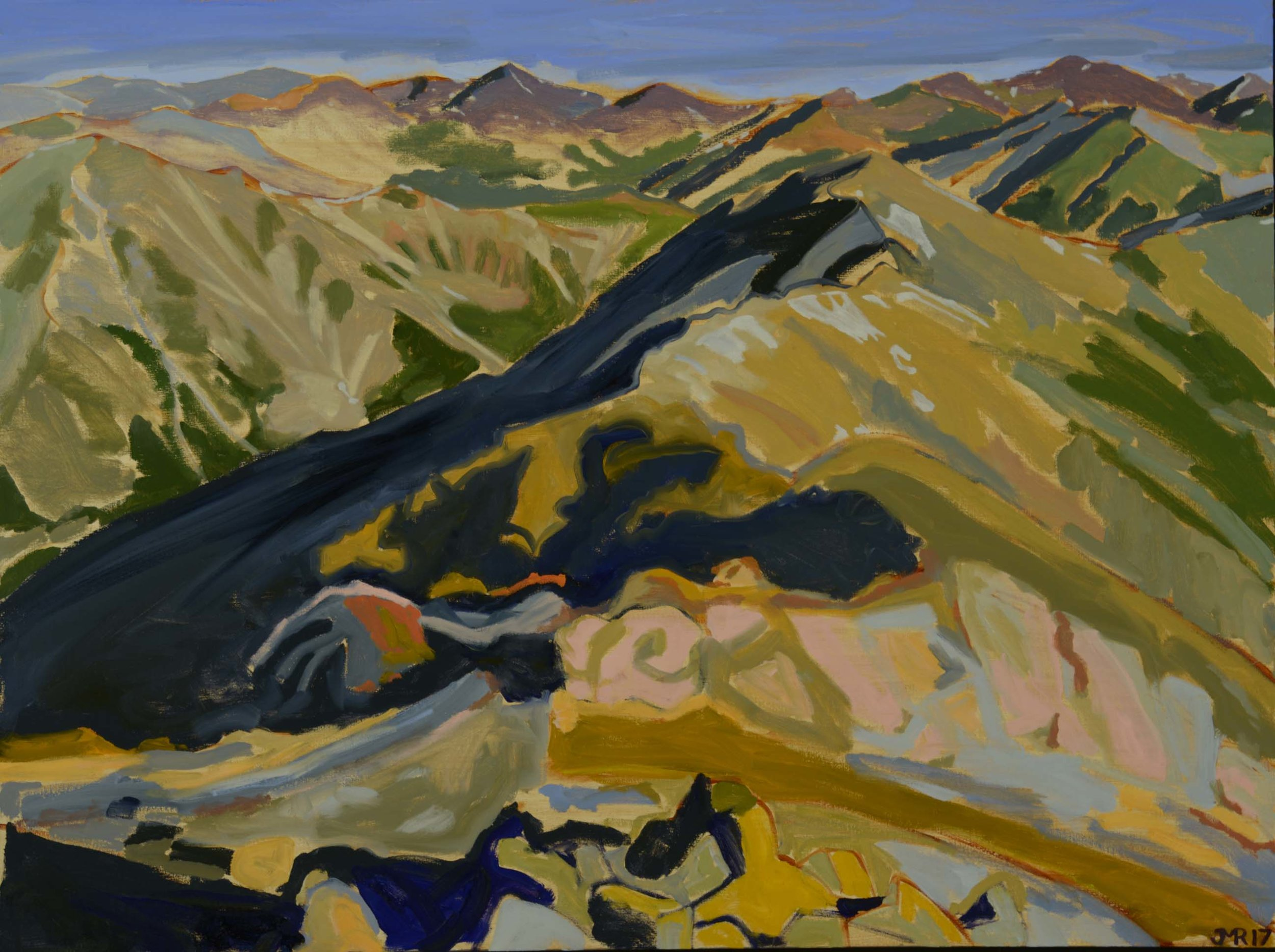 """Rolling Color from Missouri Mountain, 36"""" x 48"""", 2017"""