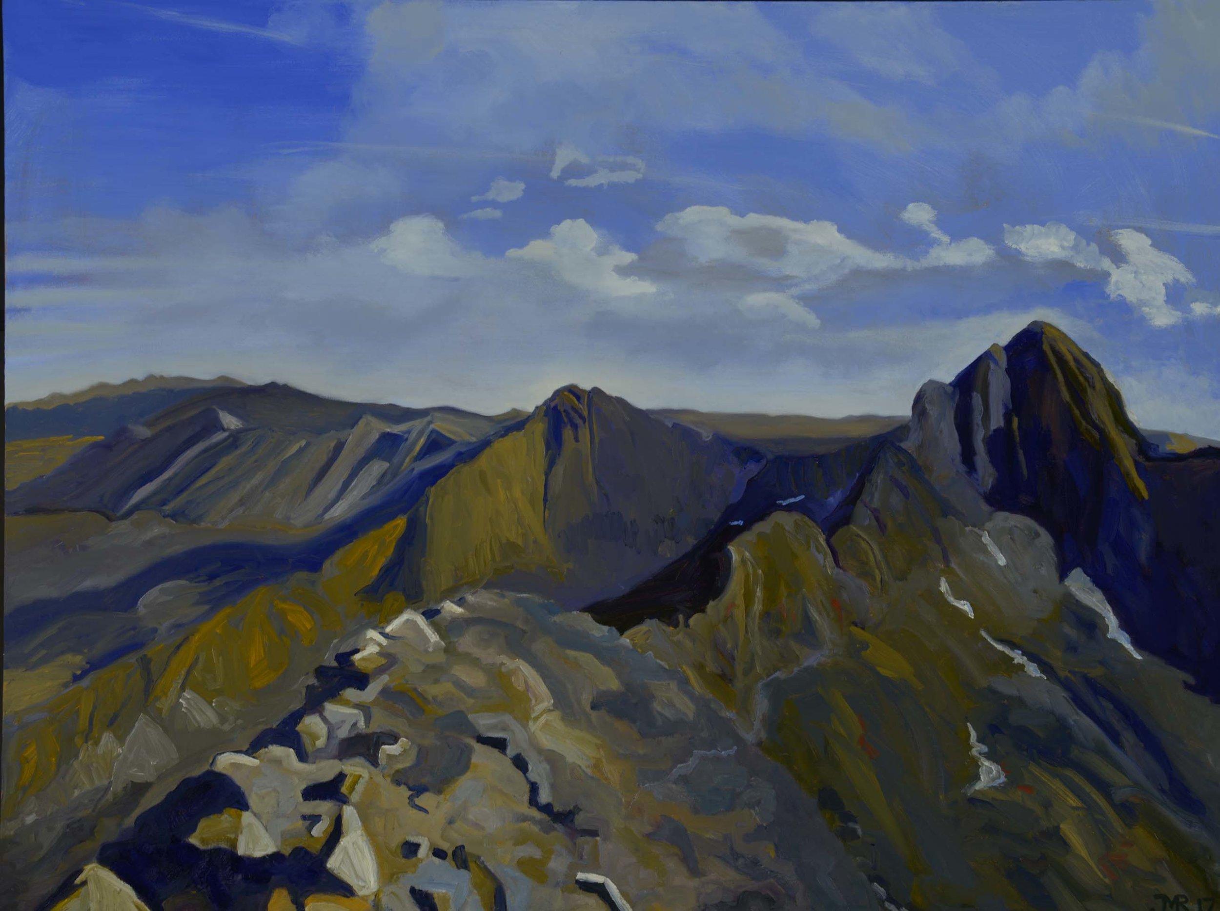 "Ridge to Blanca Peak, 36"" x 48"", 2017"