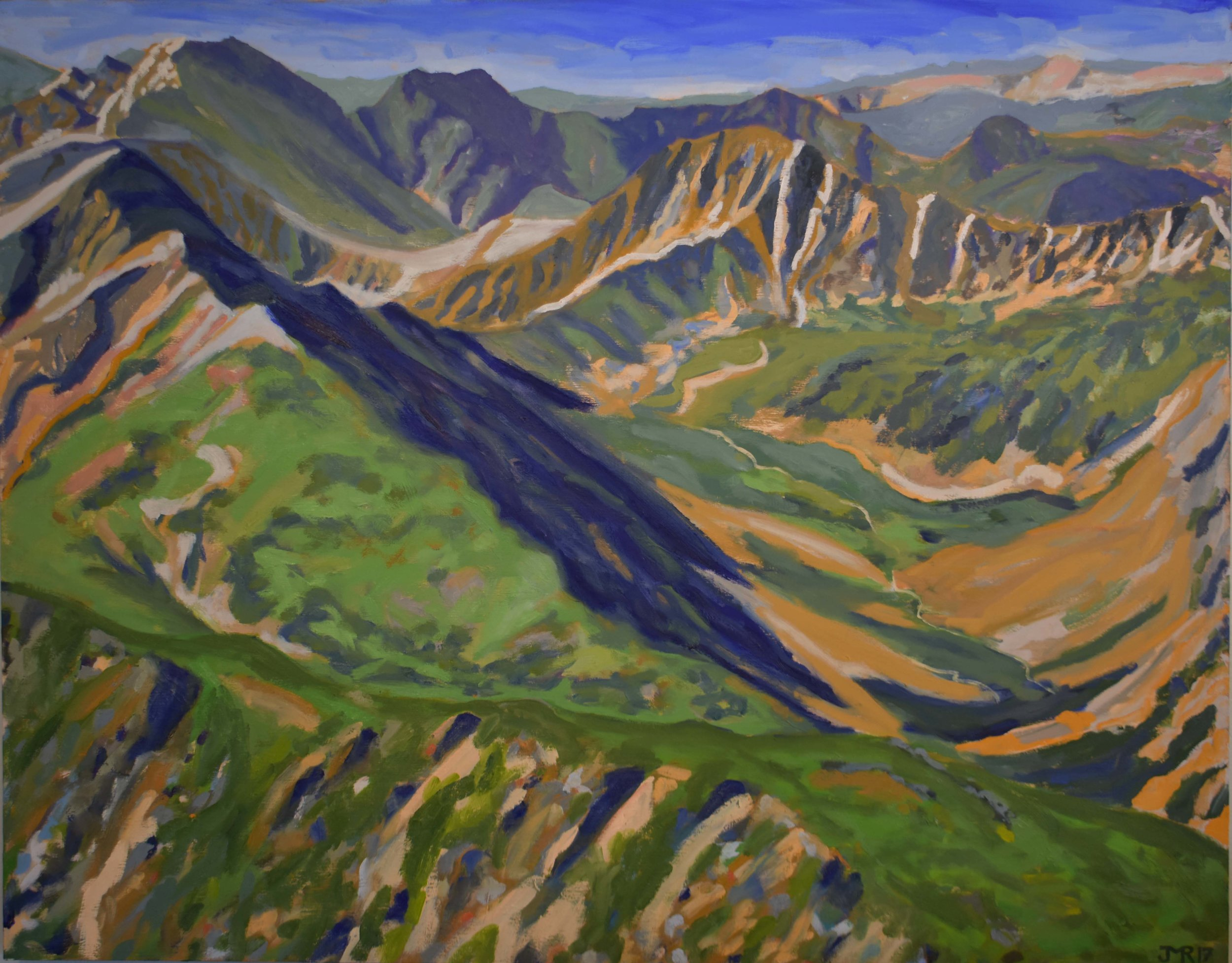 """Summit view from the Rooftop of Colorado - Mt. Elbert, 48"""" x 60"""", 2017"""