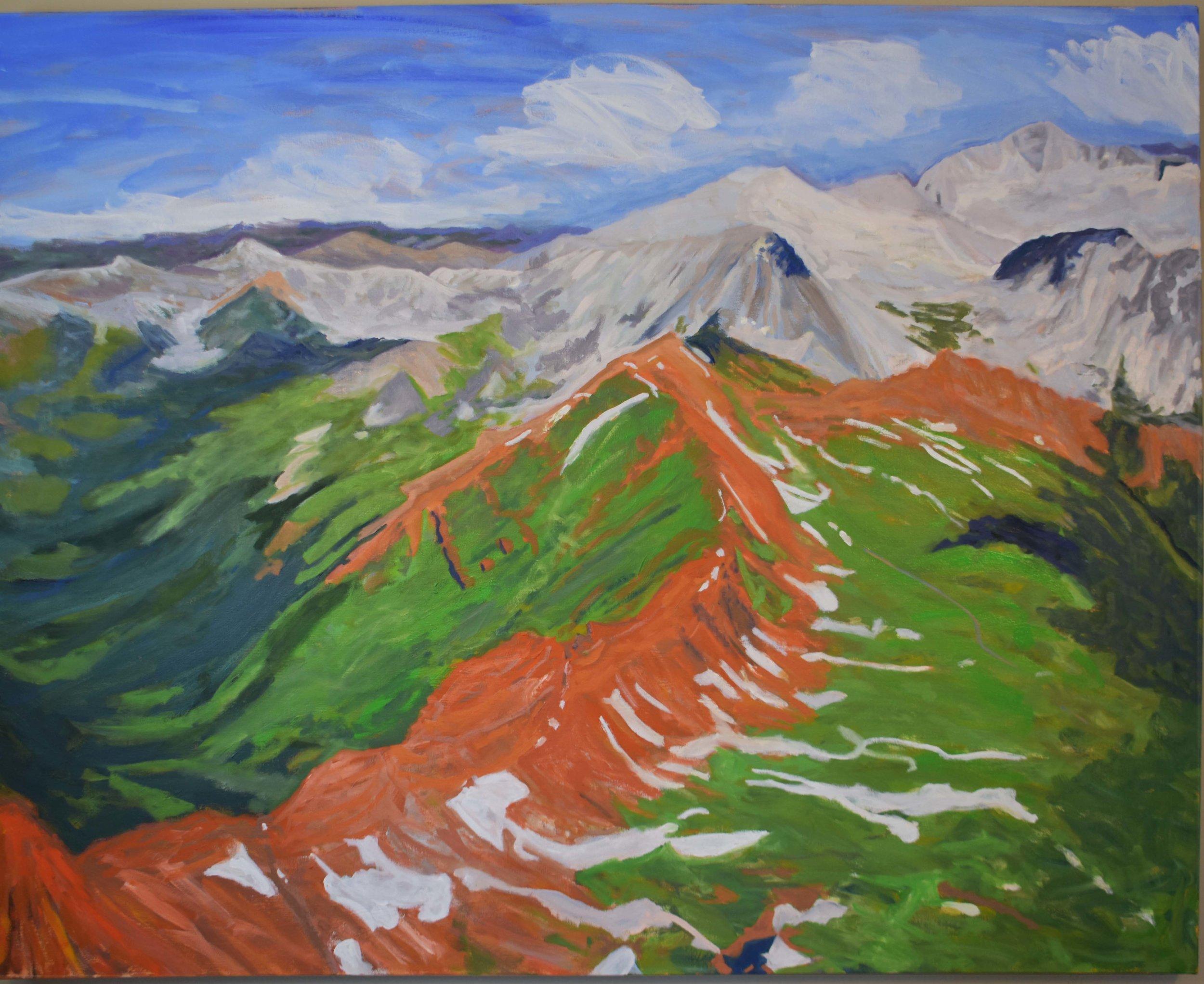 "Ridge to Snowmass, 48""x 60"", 2018"
