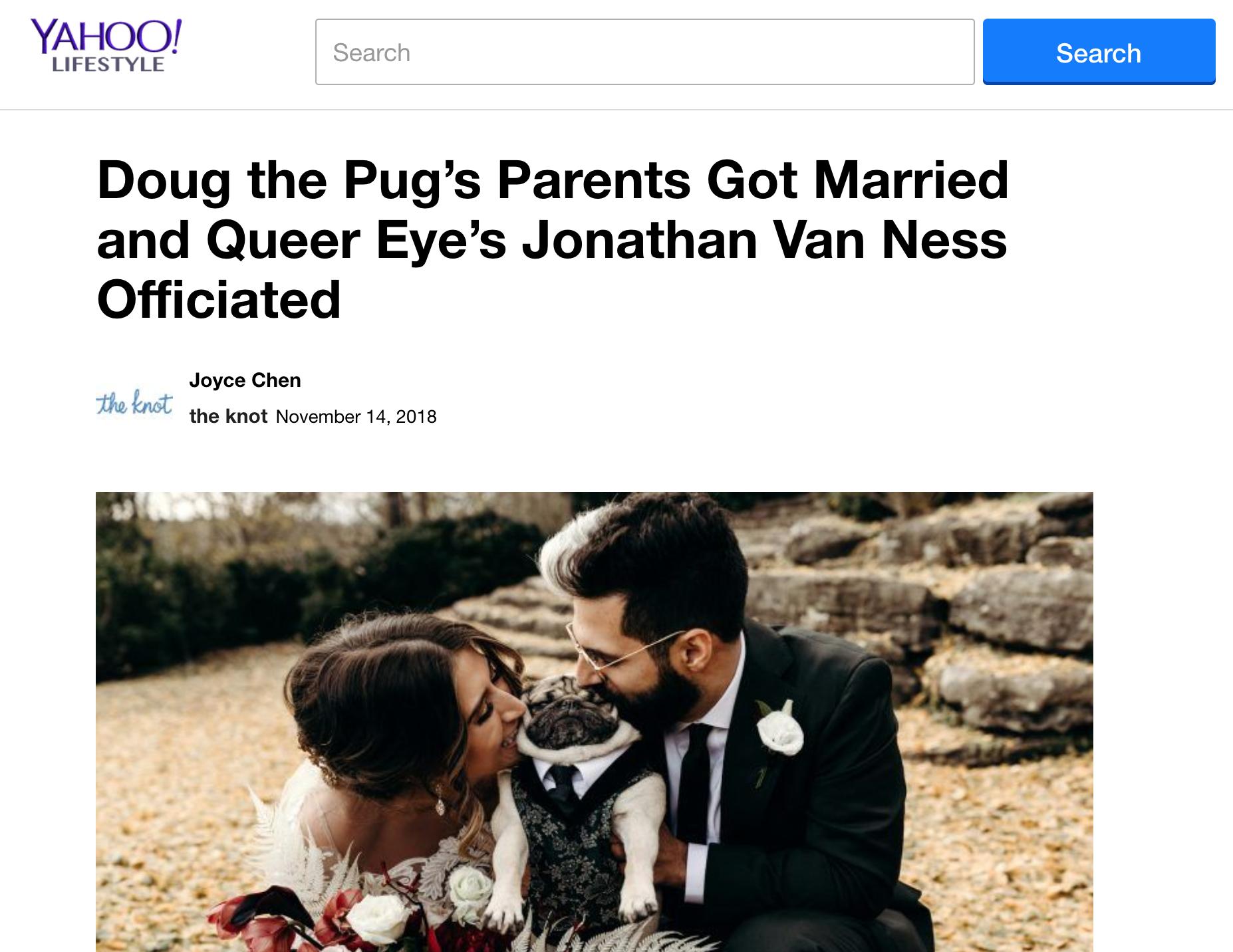 Yahoo! - Leslie + Rob + It's Doug the Pug