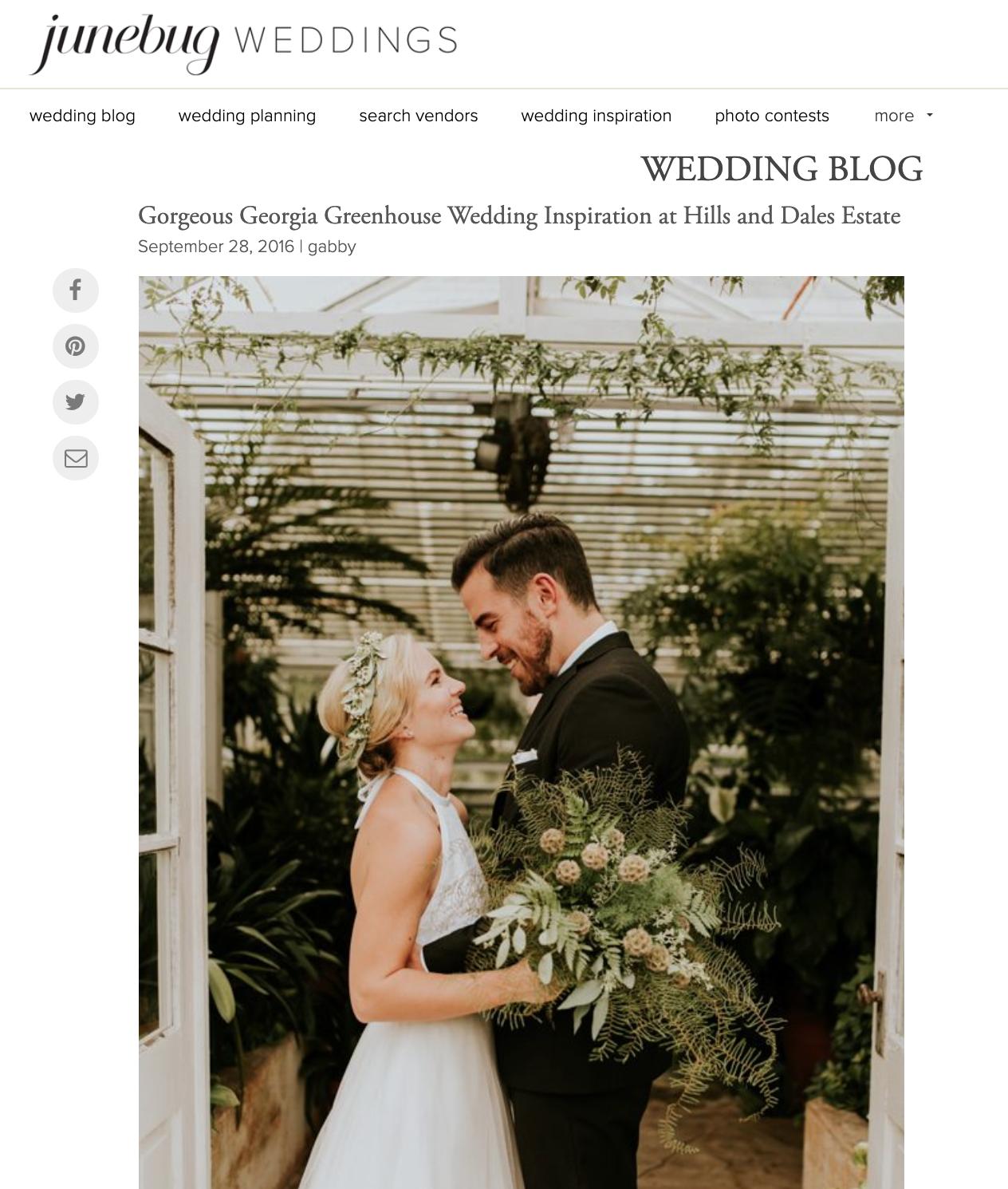 Junebug Weddings - Hills & Dales Estate styled shoot