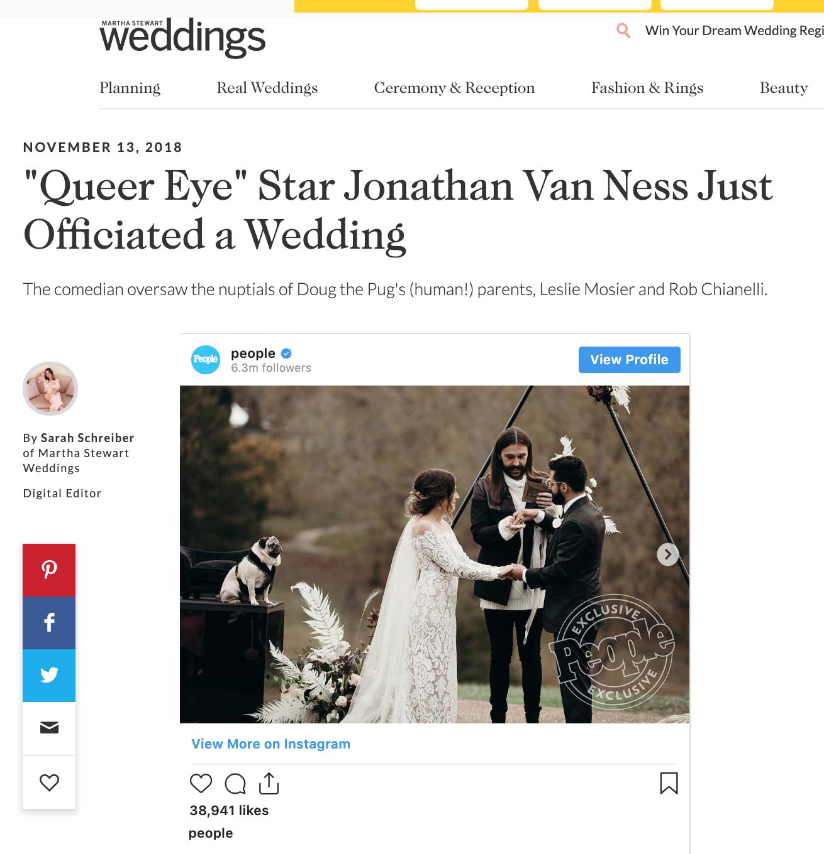 Martha Stewart Weddings - Leslie + Rob