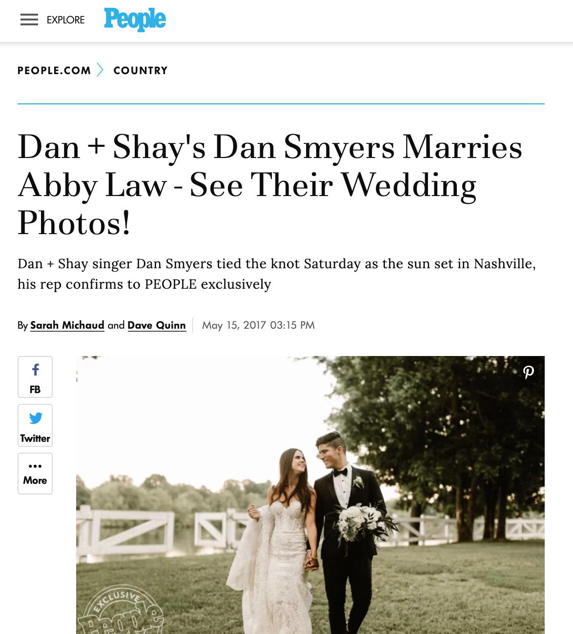 People.com - Dan + Abby Smyers
