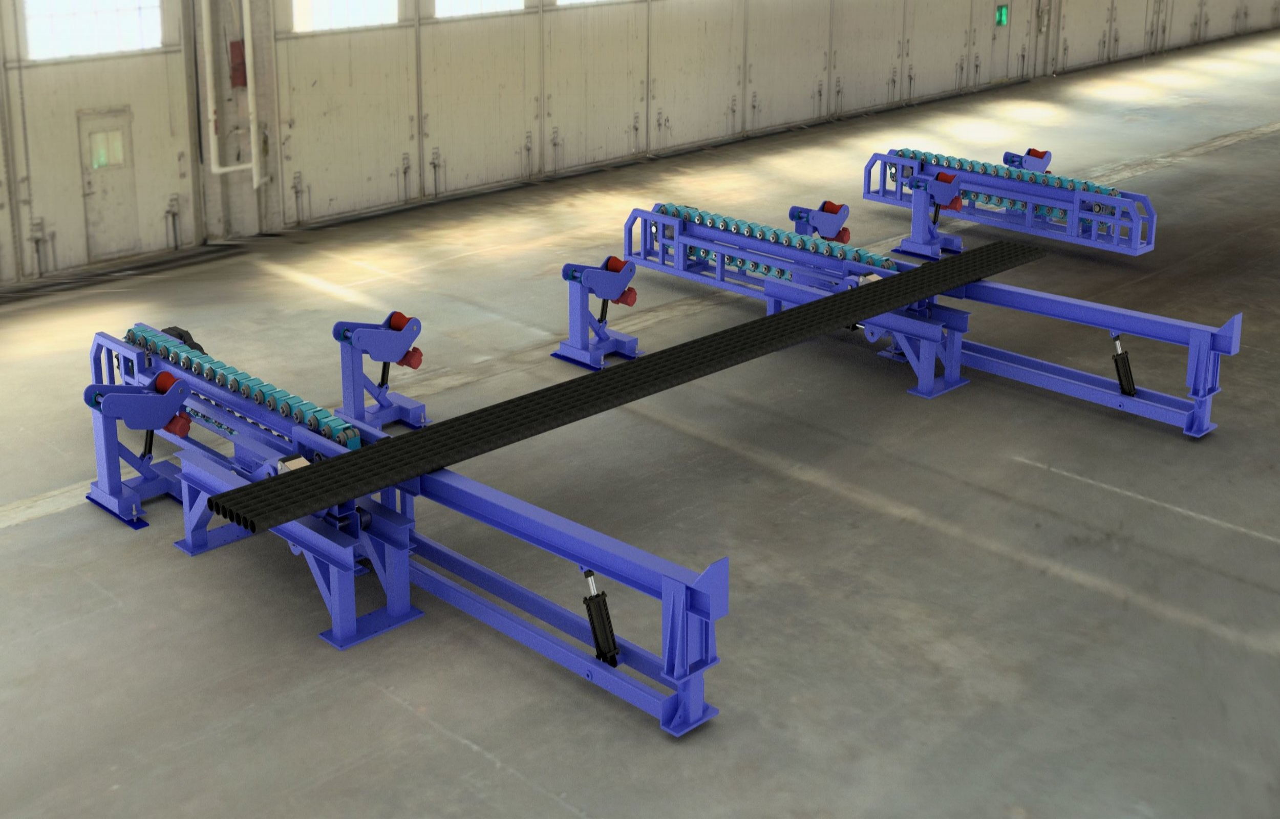 PIPE HANDLING AND COATING SYSTEMS -