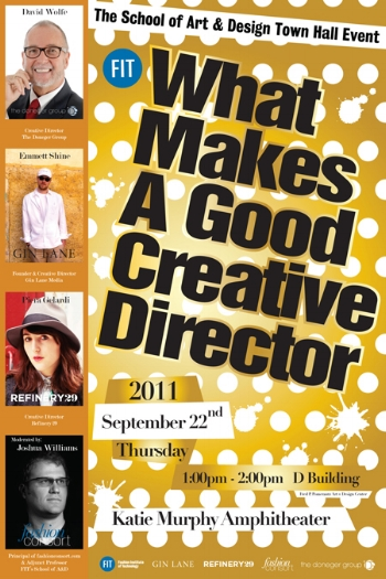 Moderator, What Makes a Good Creative Director, FIT